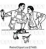 Vector Clip Art of Retro Men with Kittens by Prawny Vintage