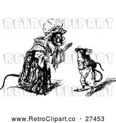 Vector Clip Art of Retro Mother Mouse Talking by Prawny Vintage