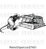 Vector Clip Art of Retro Mouse by a Trap by Prawny Vintage