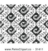 Vector Clip Art of Retro Needlepoint Pattern by Prawny Vintage