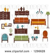 Vector Clip Art of Retro or Modern Furniture 2 by Vector Tradition SM