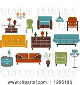 Vector Clip Art of Retro or Modern Furniture by Vector Tradition SM