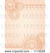 Vector Clip Art of Retro Orange Background with Circles and Rings by Graphics RF