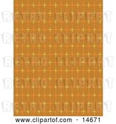 Vector Clip Art of Retro Orange Background with Colorful Stars Clipart Illustration by Andy Nortnik