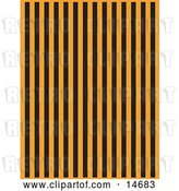 Vector Clip Art of Retro Orange Background with Vertical Black Stripes Clipart Illustration by Andy Nortnik