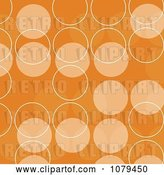 Vector Clip Art of Retro Orange Circle Background by KJ Pargeter