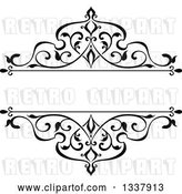 Vector Clip Art of Retro Ornate Floral Frame Design Element with Text Space 4 by Vector Tradition SM