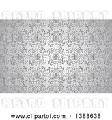 Vector Clip Art of Retro Ornate Silver Pattern Background by Dero