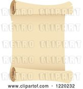 Vector Clip Art of Retro Parchment Paper Scroll 2 by Cidepix