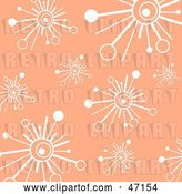 Vector Clip Art of Retro Pastel Orange Background of White Burst Stars by Prawny