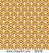 Vector Clip Art of Retro Patterned Background of White, Yellow and Brown Arches by KJ Pargeter