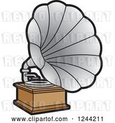 Vector Clip Art of Retro Phonograph Gramophone 2 by Lal Perera