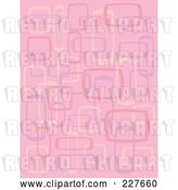 Vector Clip Art of Retro Pink Pattern Background of Rectangles and Squares by Andy Nortnik