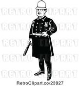 Vector Clip Art of Retro Police Guy by Prawny Vintage