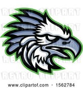 Vector Clip Art of Retro Profiled American Harpy Eagle Mascot Head by Patrimonio