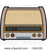 Vector Clip Art of Retro Radio 2 by Lal Perera