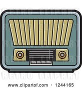 Vector Clip Art of Retro Radio 4 by Lal Perera