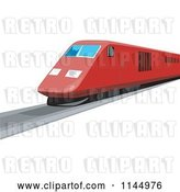 Vector Clip Art of Retro Red Train 2 by Patrimonio
