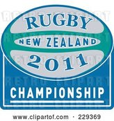 Vector Clip Art of Retro Rugby 2011 Icon - 2 by Patrimonio
