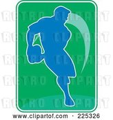 Vector Clip Art of Retro Rugby Football Player Logo - 3 by Patrimonio