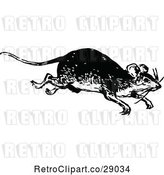 Vector Clip Art of Retro Running Mouse by Prawny Vintage
