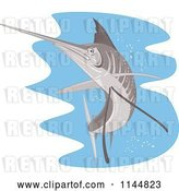 Vector Clip Art of Retro Sailfish 8 by Patrimonio