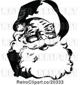 Vector Clip Art of Retro Santa by Prawny Vintage