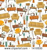 Vector Clip Art of Retro Seamless Background Pattern of Furniture by Vector Tradition SM