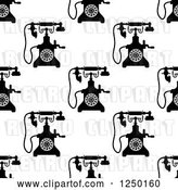 Vector Clip Art of Retro Seamless Background Pattern of Telephones by Vector Tradition SM