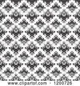 Vector Clip Art of Retro Seamless Damask Pattern by Arena Creative