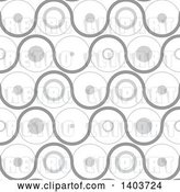 Vector Clip Art of Retro Seamless Grayscale Pattern Background of Circles by Dero