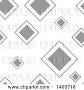 Vector Clip Art of Retro Seamless Grayscale Pattern Background of Diamonds by Dero