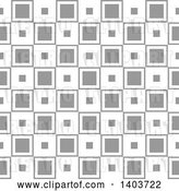 Vector Clip Art of Retro Seamless Grayscale Pattern Background of Squares by Dero
