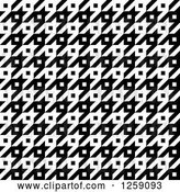 Vector Clip Art of Retro Seamless Houndstooth Pattern by Arena Creative