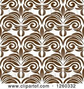Vector Clip Art of Retro Seamless Pattern Background of Brown Floral by Vector Tradition SM