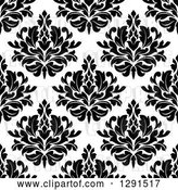 Vector Clip Art of Retro Seamless Pattern Background of Floral Damask 2 by Vector Tradition SM