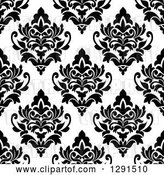 Vector Clip Art of Retro Seamless Pattern Background of Floral Damask 5 by Vector Tradition SM