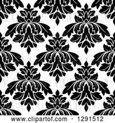 Vector Clip Art of Retro Seamless Pattern Background of Floral Damask 6 by Vector Tradition SM