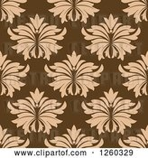 Vector Clip Art of Retro Seamless Pattern Background of Floral in Brown by Vector Tradition SM
