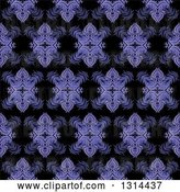 Vector Clip Art of Retro Seamless Purple Pattern Background by KJ Pargeter