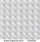 Vector Clip Art of Retro Seamless White Paper Weave Background Pattern by Michaeltravers