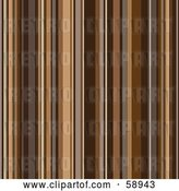 Vector Clip Art of Retro Shiny Background of Brown Stripes by Michaeltravers