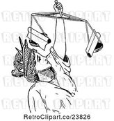 Vector Clip Art of Retro Sketched Lady Justice by Prawny Vintage