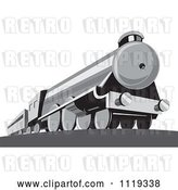 Vector Clip Art of Retro Steam Engine Train by Patrimonio