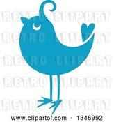 Vector Clip Art of Retro Styled Blue Bird 2 by Vector Tradition SM
