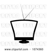 Vector Clip Art of Retro Television with a Blank Screen by Michaeltravers