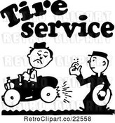 Vector Clip Art of Retro Tire Service Guy by BestVector