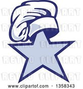 Vector Clip Art of Retro Toque Chef Hat on Top of a Star by Patrimonio