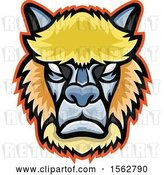 Vector Clip Art of Retro Tough Alpaca or Llama Mascot Head by Patrimonio