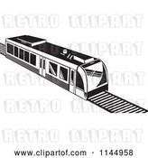 Vector Clip Art of Retro Train 1 by Patrimonio